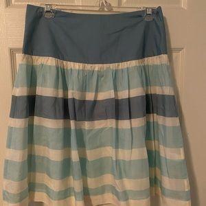 Gap high waist stripe skirt